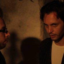 La casa nel vento dei morti: il regista Francesco Campanini sul set con l'attore Luca Magri