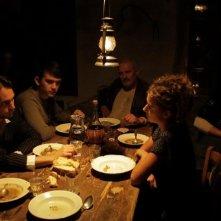 La casa nel vento dei morti: Nina Torresi, Luca Magri e Marco Iannitello in una scena del film