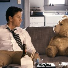 Mark Wahlberg e il suo orsacchiotto in Ted