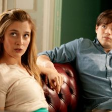 Caitlin Fitzgerald e Ryan Metcalf  in una scena di Damsels in Distress