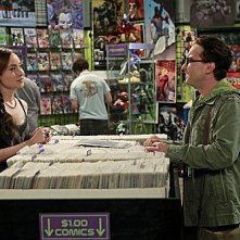 The Big Bang Theory: Johnny Galecki e Courtney Ford in una scena dell'episodio The Good Guy Fluctuation