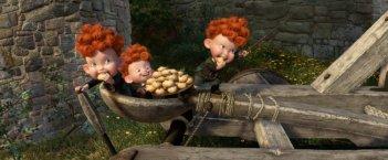 Brave - Coraggiosa e ribelle: i tre gemellini rossi Harris, Hubert e Hamish