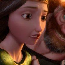 Brave - Coraggiosa e ribelle: Queen Elinor e King Fergus in una scena del film