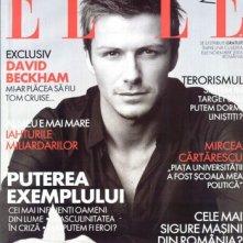 David Beckham sulla cover di Elle nel 2012