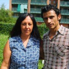 Enrico LoVerso e Paola Crova sul set di La bella società