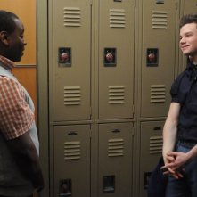 Glee: Alex Newell e Chris Colfer nell'episodio Saturday Night Fever