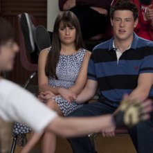 Glee: Lea Michele e Cory Monteith nell'episodio Big Brother