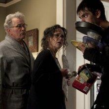 The Amazing Spider-Man: Andrew Garfield insieme a Martin Sheen e Sally Field in una scena del film