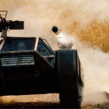 Un minaccioso carroarmanto avanza in una scena di G.I. Joe: La vendetta