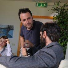 Maternity Blues: il regista Fabrizio Cattani insieme a Daniele Pecci e Andrea Osvart sul set del film