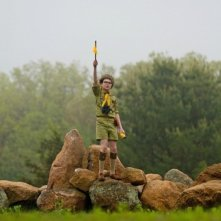 Moonrise Kingdom: il giovane Jared Gilman in una scena del film