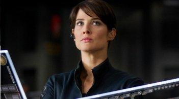 Un bel primo piano di Cobie Smulders nei panni di Maria Hill in The Avengers