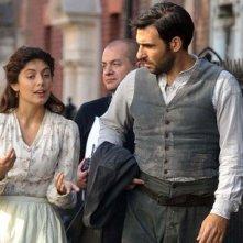 Alessandra Mastronardi e Edoardo Leo in una scena della miniserie di Rai Uno, Titanic Nascita di una leggenda