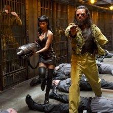 Men in Black 3: Nicole Scherzinger insieme a Jemaine Clement in una scena del film
