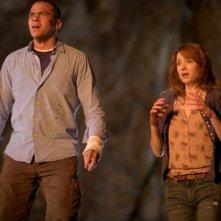 Quella casa nel bosco: Kristen Connolly e Jesse Williams atterriti in una scena del film