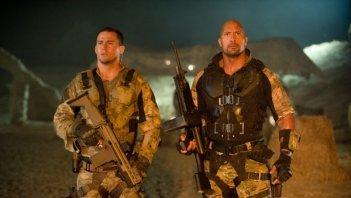 Channing Tatum e Dawayne Johnson in una scena di G.I. Joe: La vendetta
