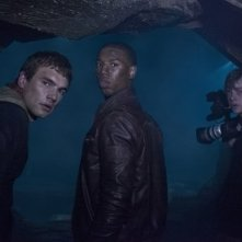 Chronicle: Alex Russell, Michael B. Jordan e Dane DeHaan in una buia scena del film