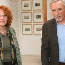 Hopper: In His Own Words, la regista Cass Warner insieme a Dennis Hopper durante la lavorazione del film