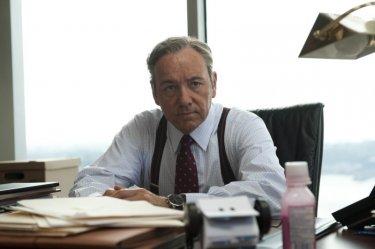 Margin Call: Kevin Spacey nei panni di uno spietato economista in una scena del film