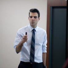 Margin Call: Zachary Quinto in una scena del thriller incentrato sulla crisi economica mondiale