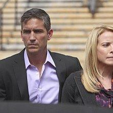 Person of Interest: James Caviezel e Meredith Patterson nell'episodio Judgement