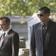 Person of Interest: Jim Caviezel e Michael Emerson in una scena dell'episodio Ghost