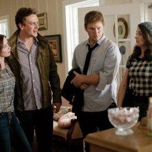 Emily Blunt, Jason Segel, Chris Pratt ed Alison Brie in The Five-Year Engagement