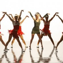 Glee: Heather Morris e le Cheerios in una scena dell'episodio Addio, Whitney
