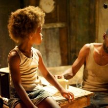 Beasts of the Southern Wild: la piccola Quvenzhané Wallis sul set con Dwight Henry