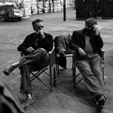 Le grand soir: i registi Benoît Delépine e Gustave Kervern in un'immagine dal set del film