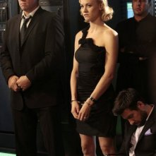 Chuck: Adam Baldwin, Joshua Gomez e Yvonne Strahovski nell'episodio Chuck vs. the Zoom