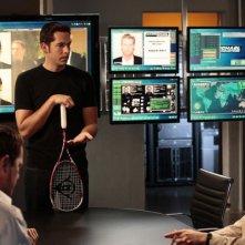 Chuck: Adam Baldwin, Zachary Levi e Yvonne Strahovski nell'episodio Chuck vs. the Zoom