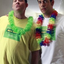 Chuck: David Koechner e Zachary Levi nell'episodio Chuck Versus the Business Trip