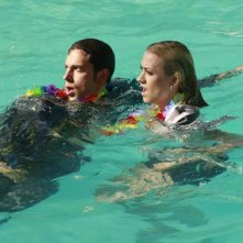 Chuck: Yvonne Strahovski e Zachary Levi nell'episodio Chuck Versus the Business Trip