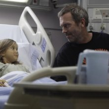 Dr House: Hugh Laurie e Rachel Eggleston nell'episodio The C-Word