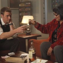 Dr House: Jesse Spencer e Saachiko nell'episodio Gut Check