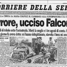 Giovanni Falcone: la prima pagina del Corriere della Sera dedicata alla strage di Capaci