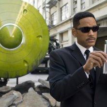 Men in Black 3: Will Smith in una scena del film