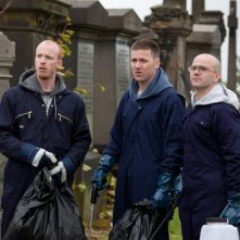 The Angels' Share: Paul Brannigan, William Ruane e Gary Maitland in una scena del film