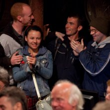 The Angels' Share: Paul Brannigan, William Ruane, Gary Maitland e Jasmin Riggins in una scena