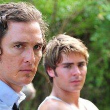 The Paperboy: Matthew McConaughey con Zac Efron in una scena del film