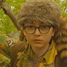 Moonrise Kingdom: il giovane Jared Gilman in una scena tratta dal film