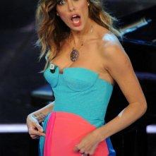 Sanremo 2012: Belen Rodriguez durante una delle serate del festival