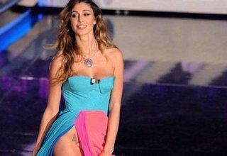 Sanremo 2012: Belen Rodriguez mostra il chiacchierato tatuaggio sull'inguine