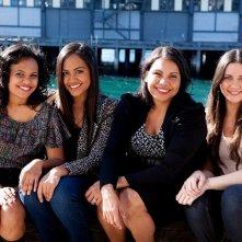 The Sapphires: le protagoniste del gruppo Jessica Mauboy, Deborah Mailman, Shari Sebbens, Miranda Tapsell in una foto promozionale