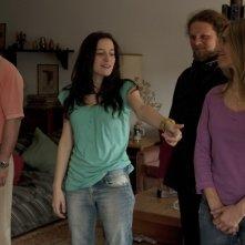 3: Humberto de Vargas, Sara Bessio e Anaclara Ferreyra Palfy sul set del film insieme al regista Pablo Stoll Ward