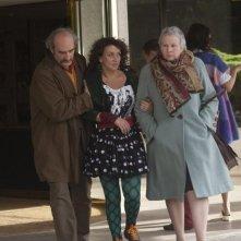 Camille redouble: Noémie Lvovsky, Yolande Moreau e Michel Vuillermoz in una scena del film