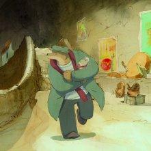 Ernest et Célestine: l'orso e il topolino protagonisti del film in una scena