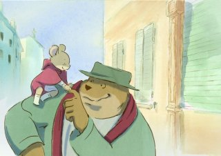 Ernest et Célestine: l'orso e il topolino protagonisti della storia in un momento del film
