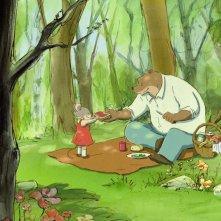 Ernest et Célestine: un'allegra scena del film d'animazione che ha come protagonisti una topolina e un gross ors